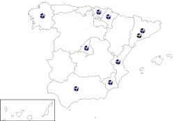 Demarcaciones y delegaciones territoriales de ASF
