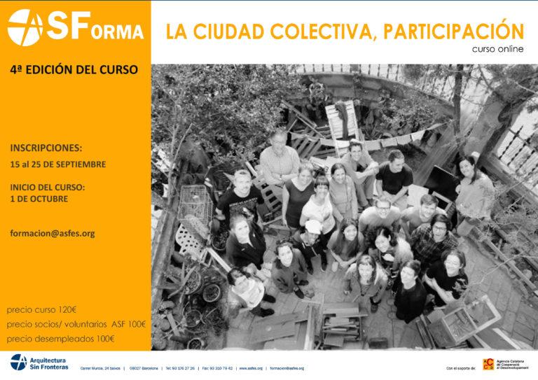 CURSO ONLINE: CIUDAD COLECTIVA, PARTICIPACIÓN