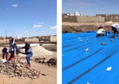 (2017-2018) «Asistencia técnica para la construcción de una pista deportiva, en los terrenos que ocupa el Centro de Educación Media nº3, en el barrio de Cáritas de Joal Fadiouth»