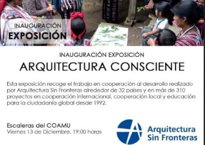 (2019-2020)«Exposición Arquitectura Consciente en el Colegio Oficial de Arquitectos de la Región de Murcia»