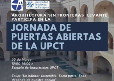 (2019)«Participación en la Jornada de puertas abiertas de la Universidad Politécnica de Cartagena»