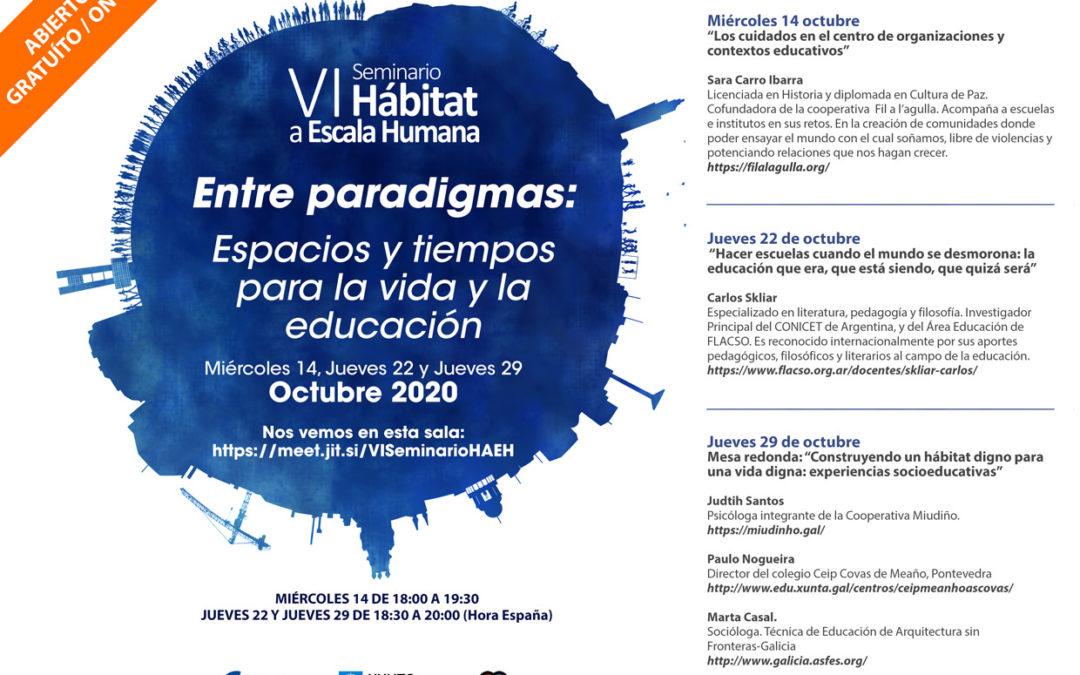 VI Edición del Seminario «Hábitat a Escala Humana»